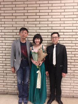 with my teacher Yao Zhao and pianist Chung-hsi Hsieh