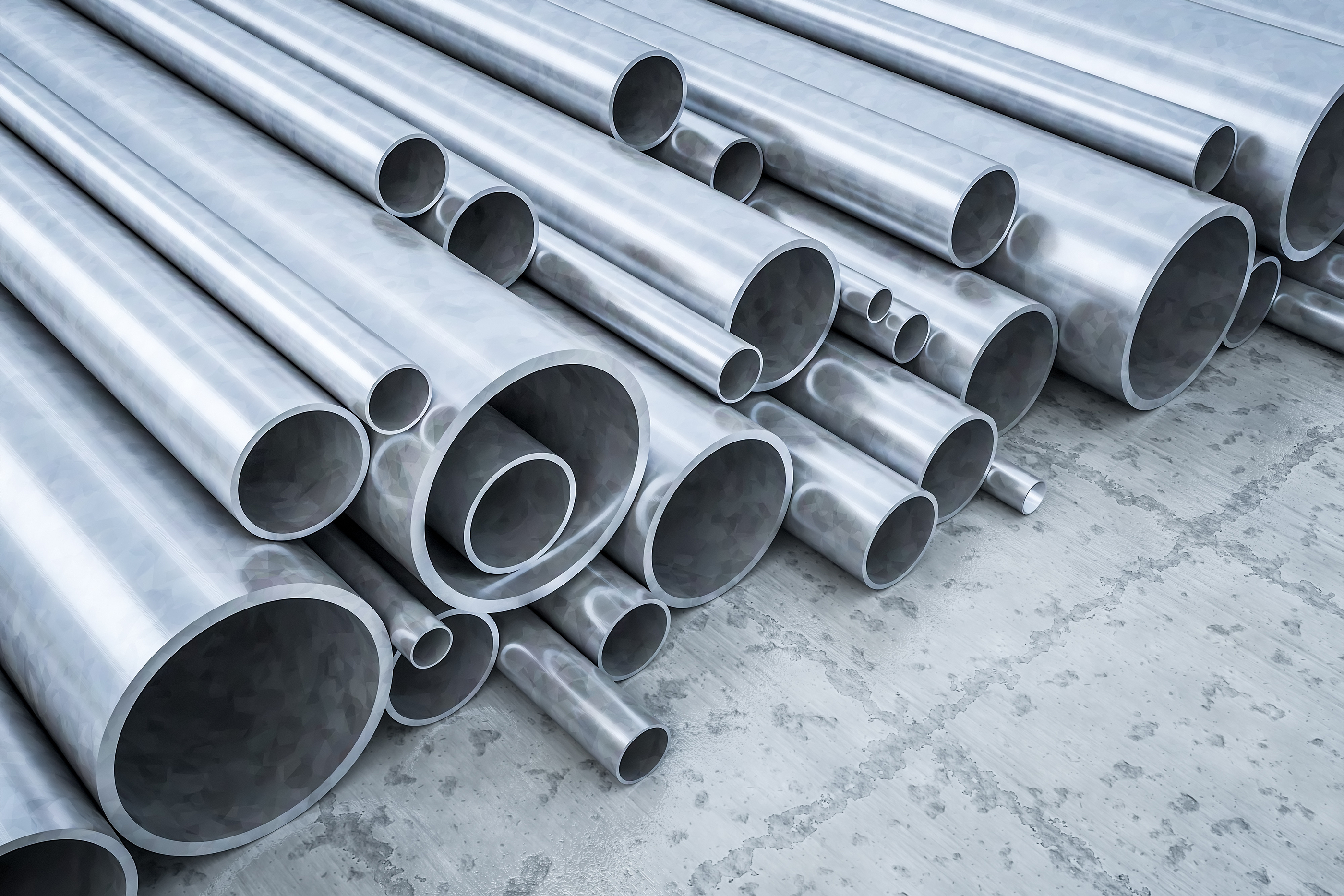 An image of some steel pipes in a warehouse.jpg