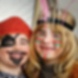 Kids dressed as little pirate and indian