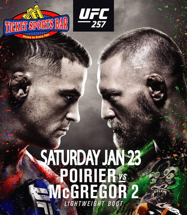 UFC-257.  For more info, call 850-473-0717