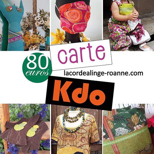 La Carte KDO / TOUTE LA BOUTIK