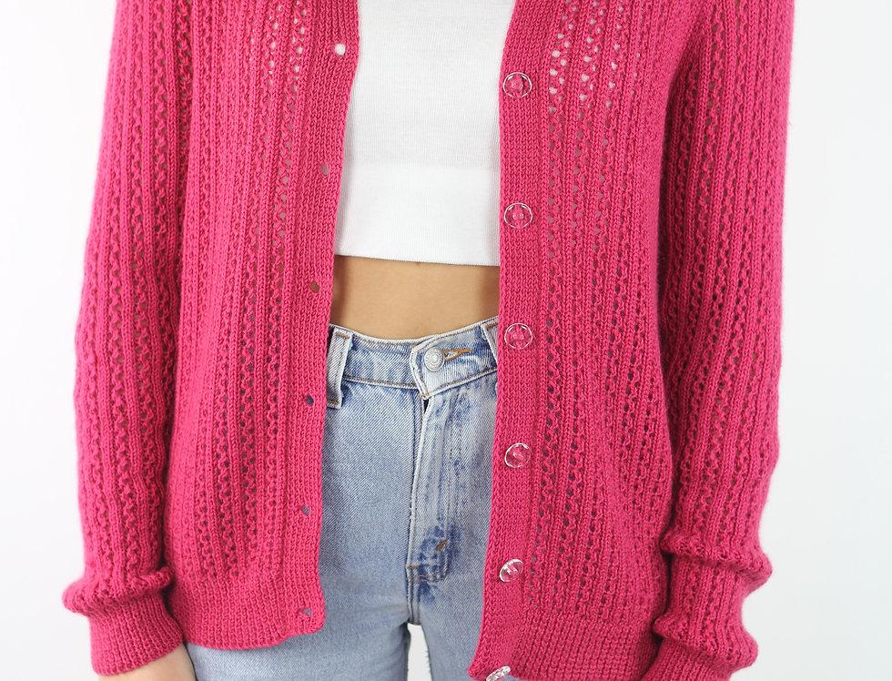 Vintage Pink Knit Cardi