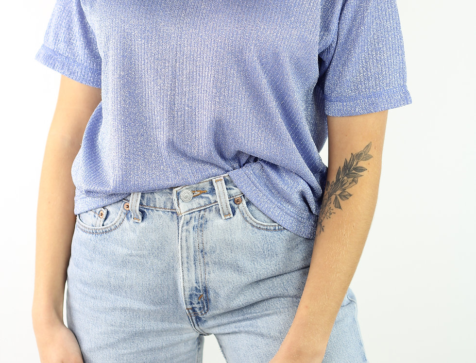 Sparkly Blue Party Top