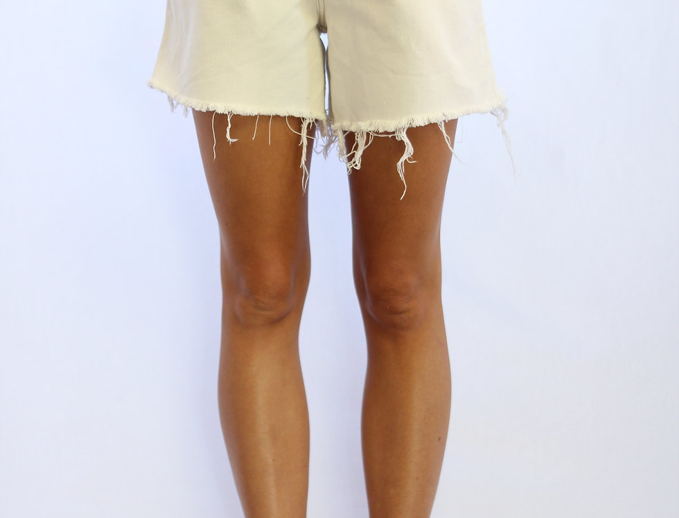 Vintage Off-White Denim Shorts