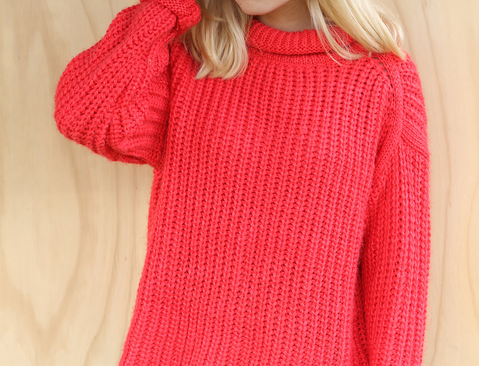 Cozy Red Knit