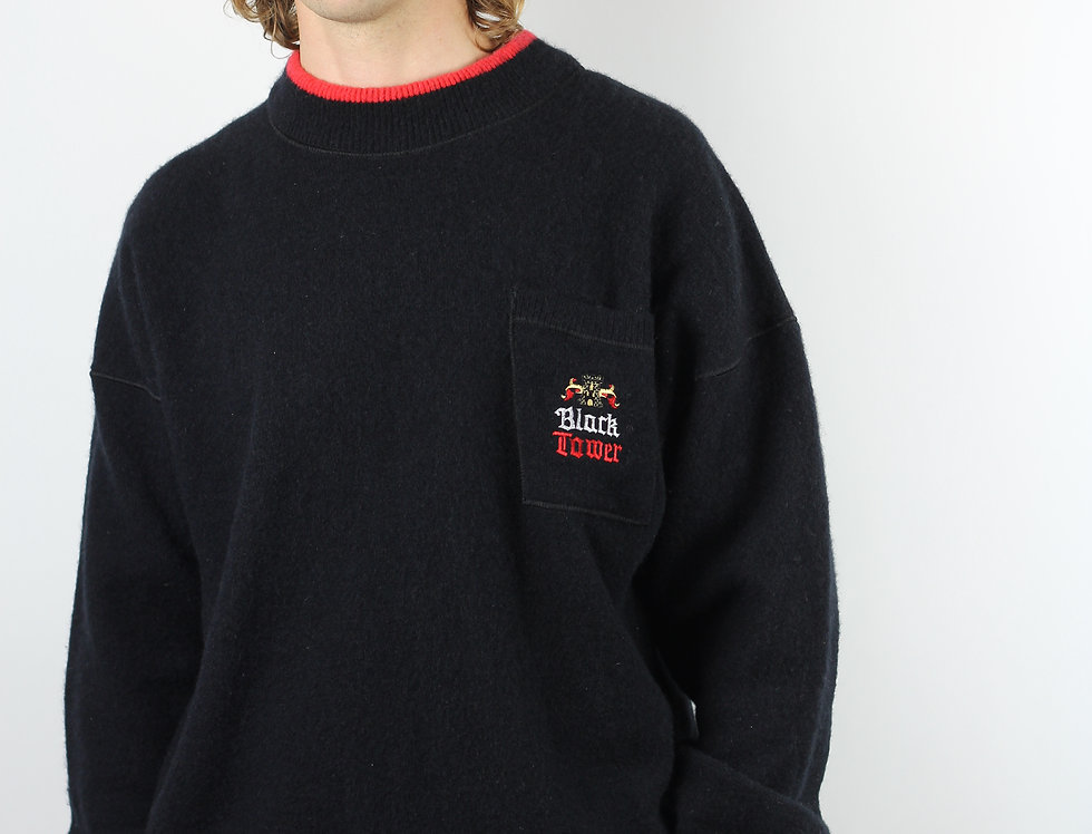 Black Tower Line 7 Wool Jumper