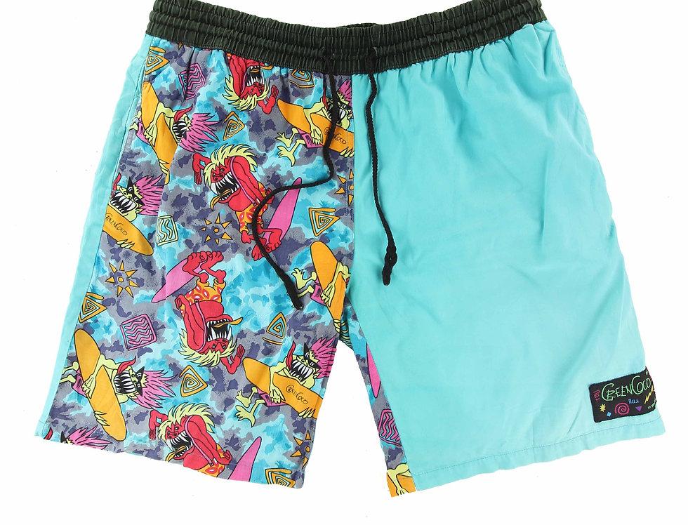 90's Rico Mancini Green Coco Shorts