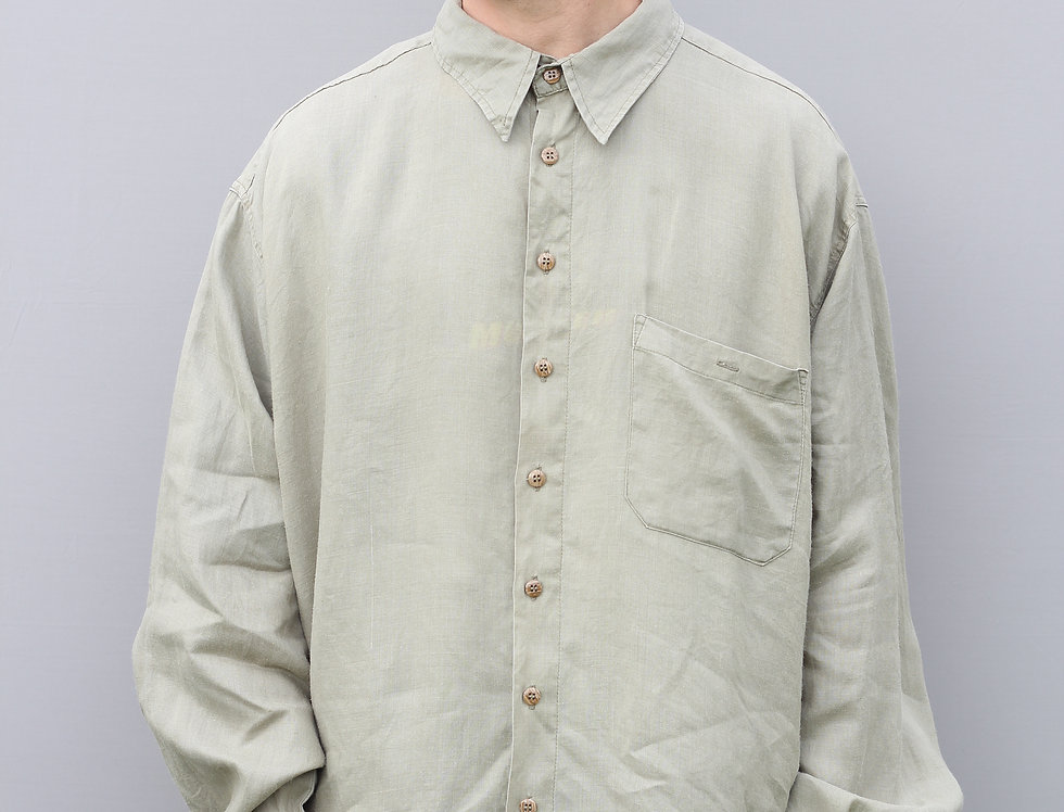 Blue Stone Linen Shirt