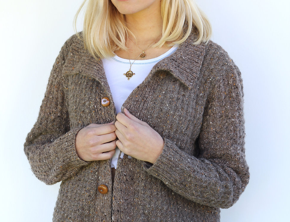 Brown Hand Knit Cardi