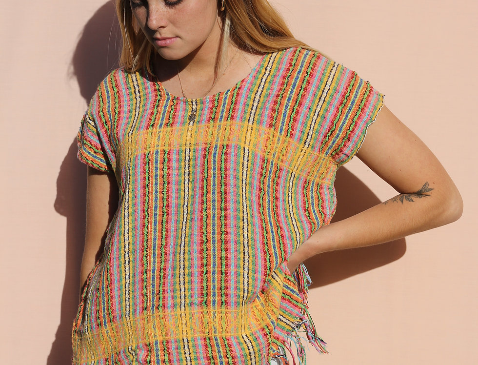 Mexican Poncho Top