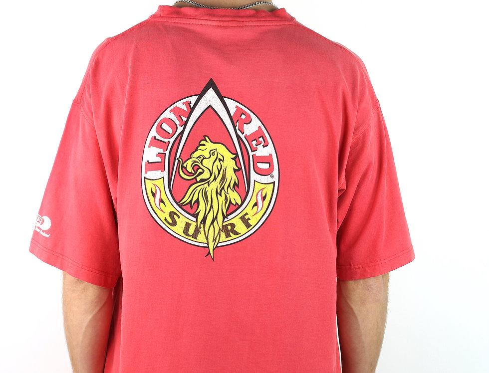 Vintage Lion Red Surf T
