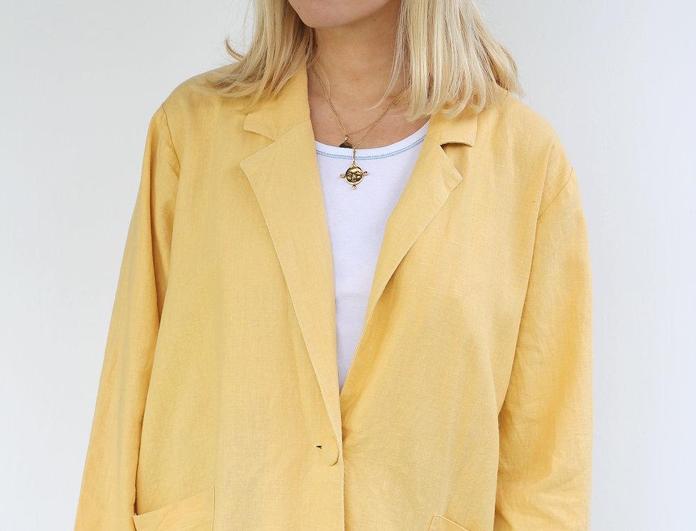 Yellow Linen Blazer
