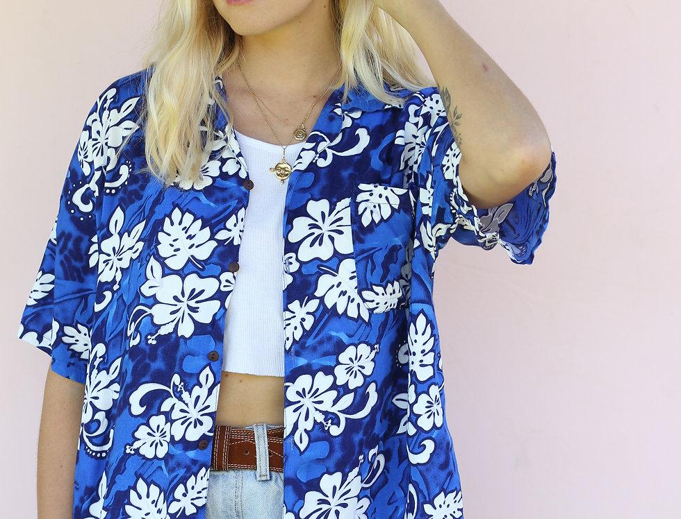 Blue Hawaiian Shirt