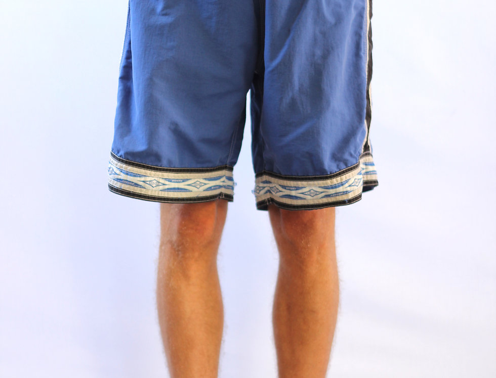 Retro Blue Trunks