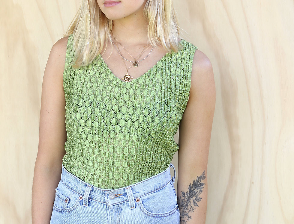 Green 90's Top