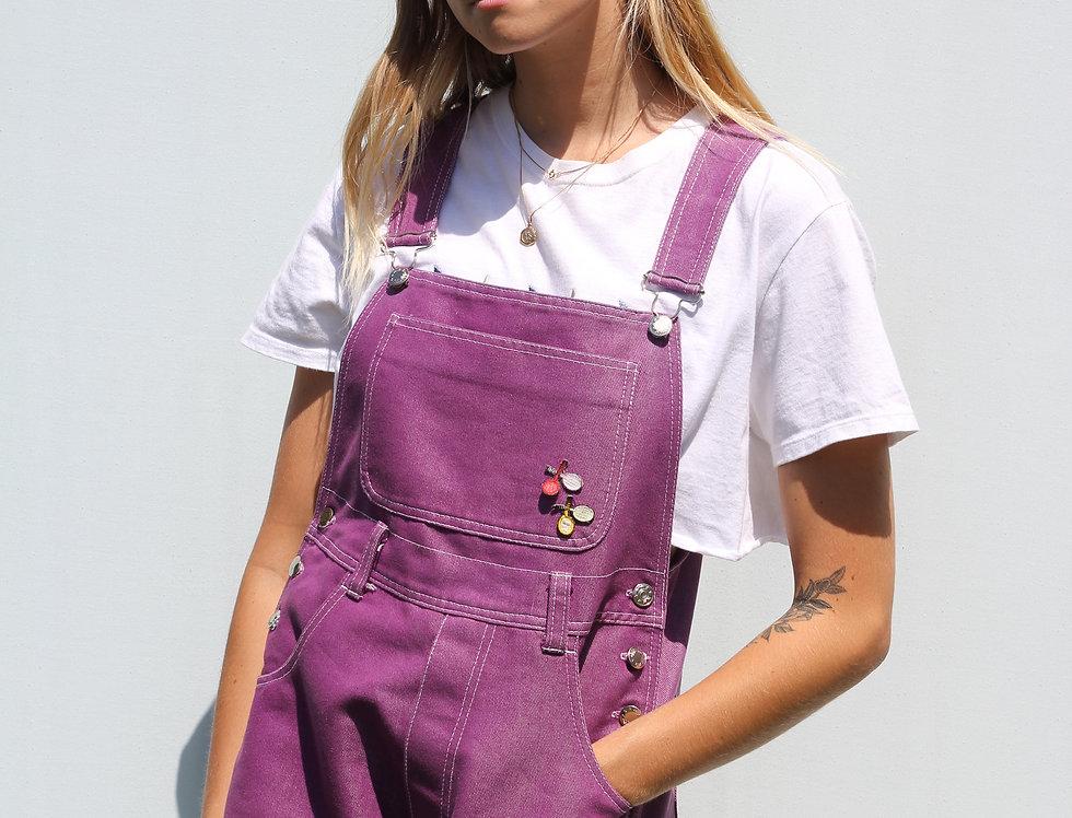 Shiny Purple Vintage Dungarees