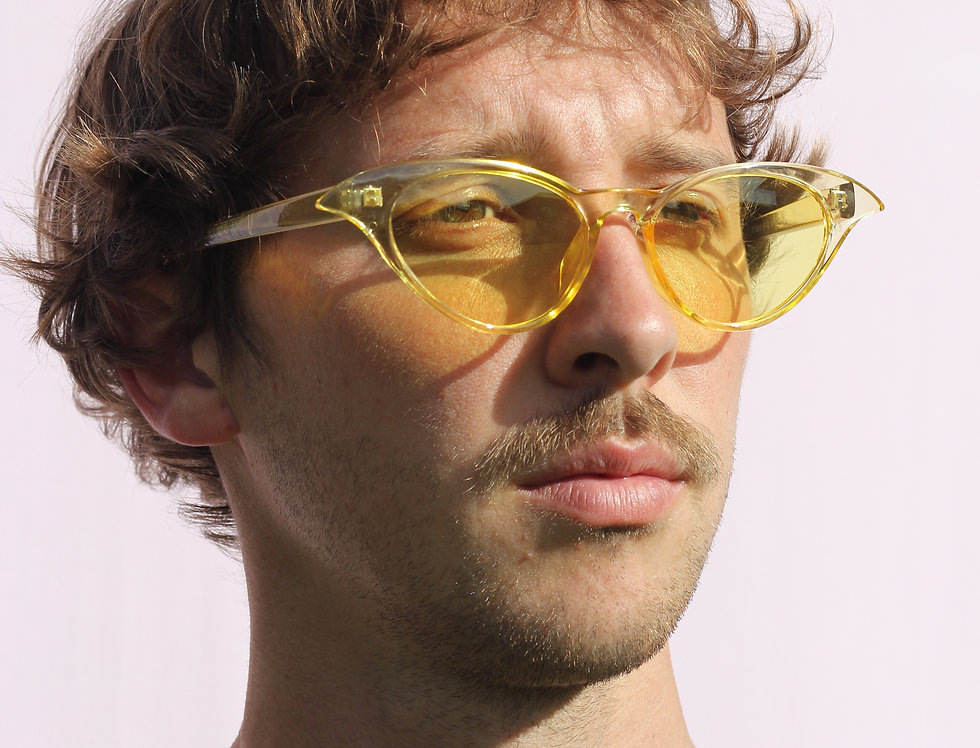 Yellow Clear Cat Eye Glasses