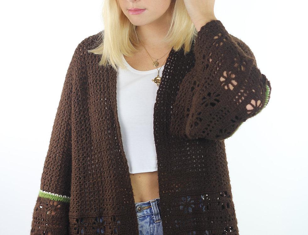 60's Handmade Crochet Cardi