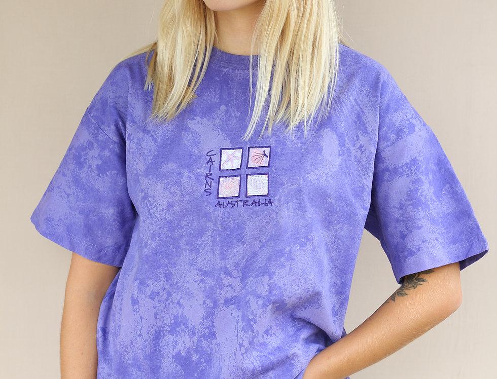 Australia Purple Tie Dye T