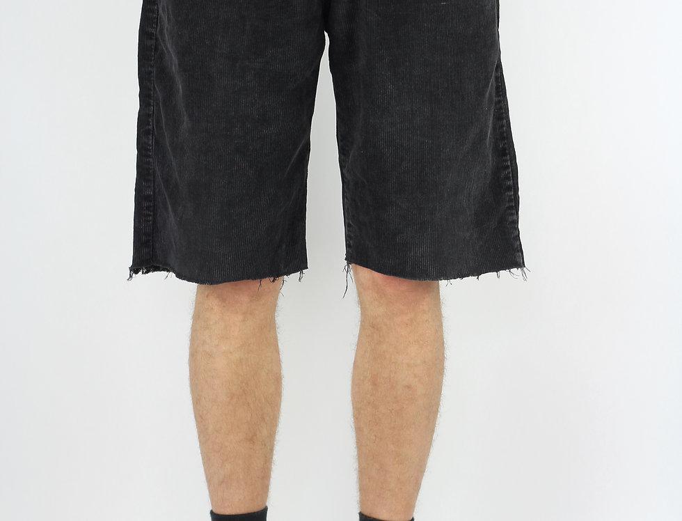 Black Cord Shorts