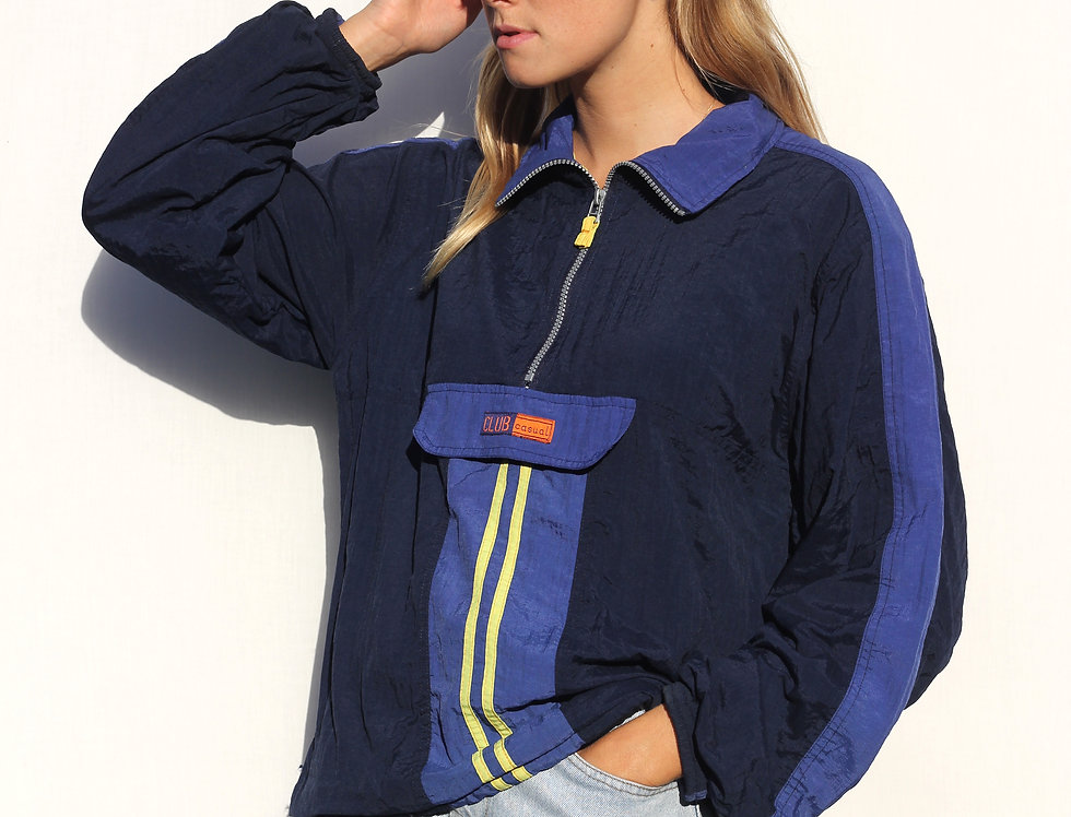 Retro Club Casual Windbreaker
