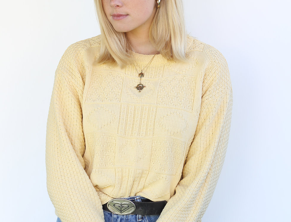 Yellow Knit Long Sleeve