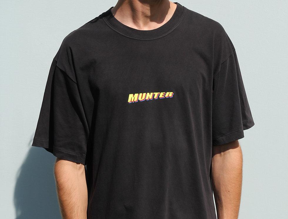 Faded Black Munter T