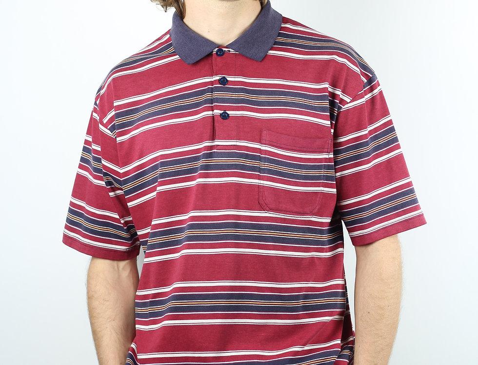 Red Stripe Polo