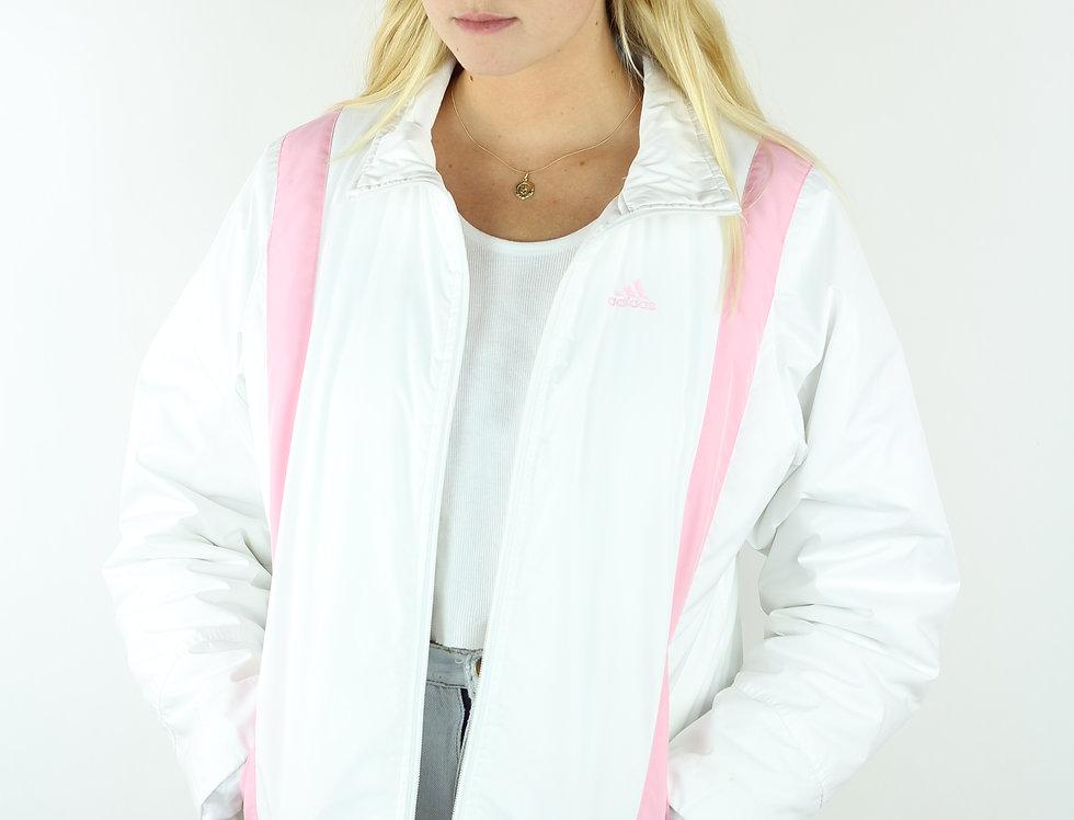Adidas White/Pink Jacket