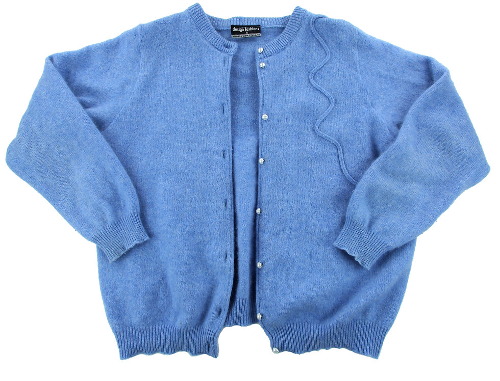 NZ Made Angora/Lambswool Blend Cardi