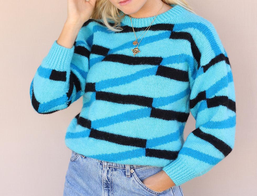 Retro Blue Knit
