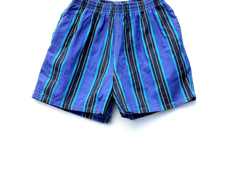 90's Blue Stripe Shorts