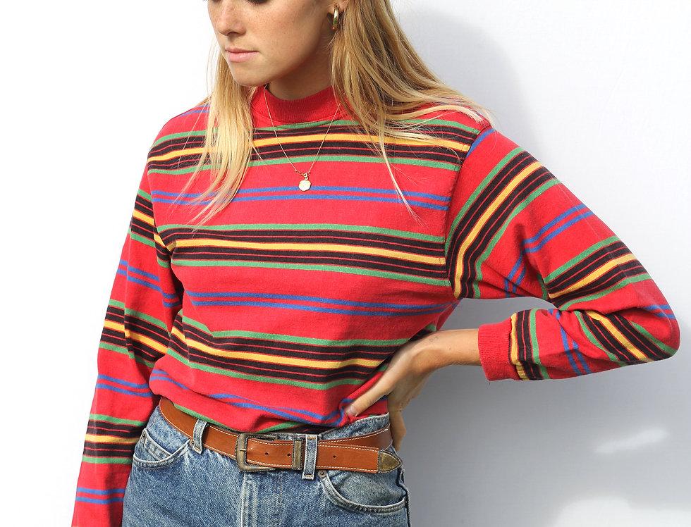 Retro Striped Long Sleeve