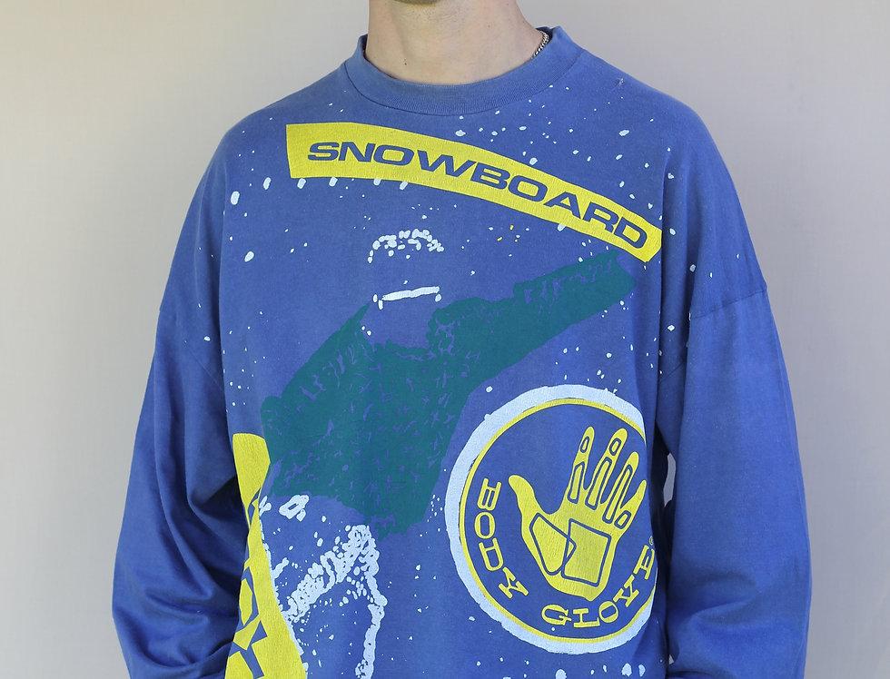 Vintage 1989 Body Glove Snowboard Long Sleeve