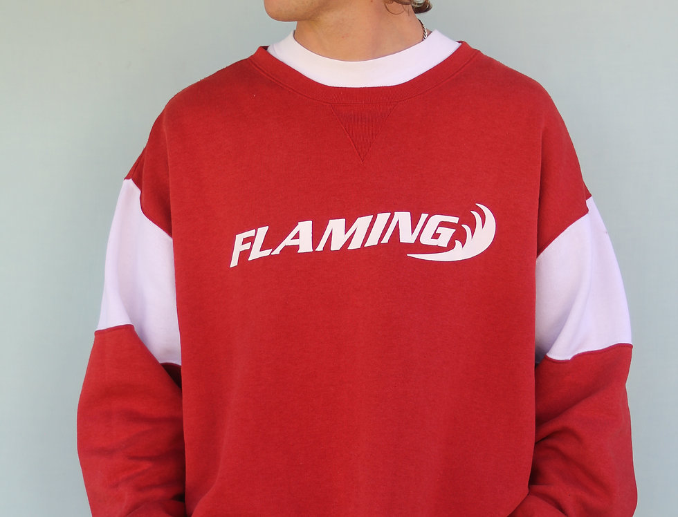 90's Submerge Flaming Crew Neck