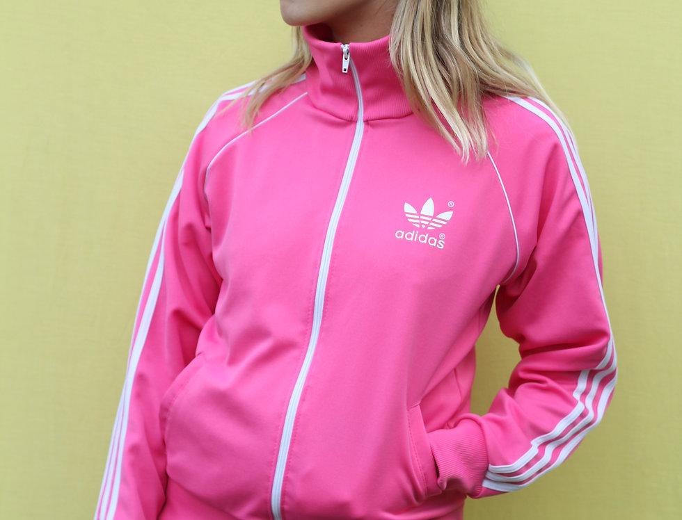 Classic Old School Adidas Pink Jacket