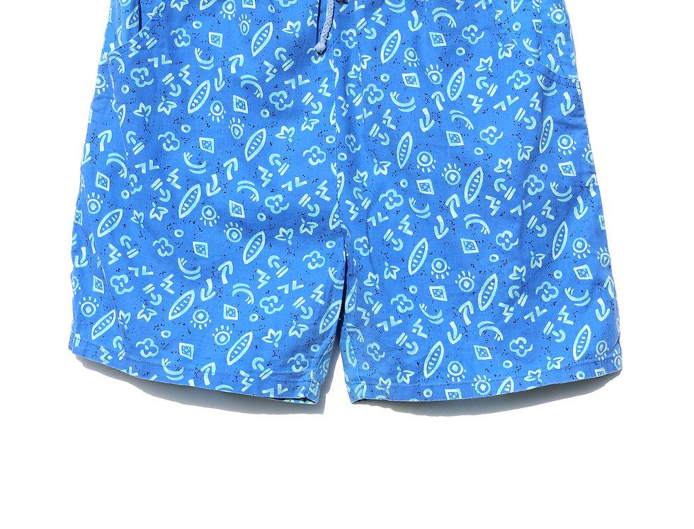 Blue 90's Shorts