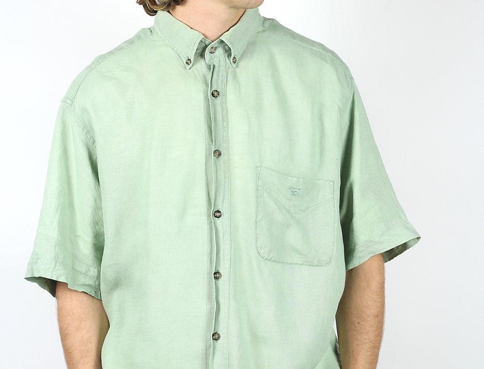 100% Linen Rodd & Gunn Mint Shirt