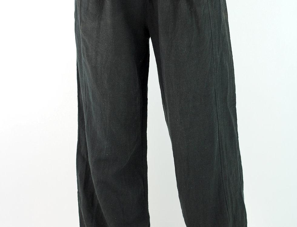 Wide Leg Linen feel 100% Silk Pants