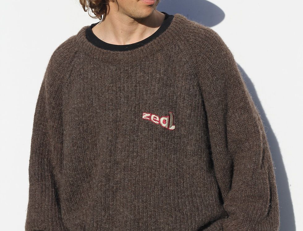 Vintage Zeal Surf/Skate Wool Jumper