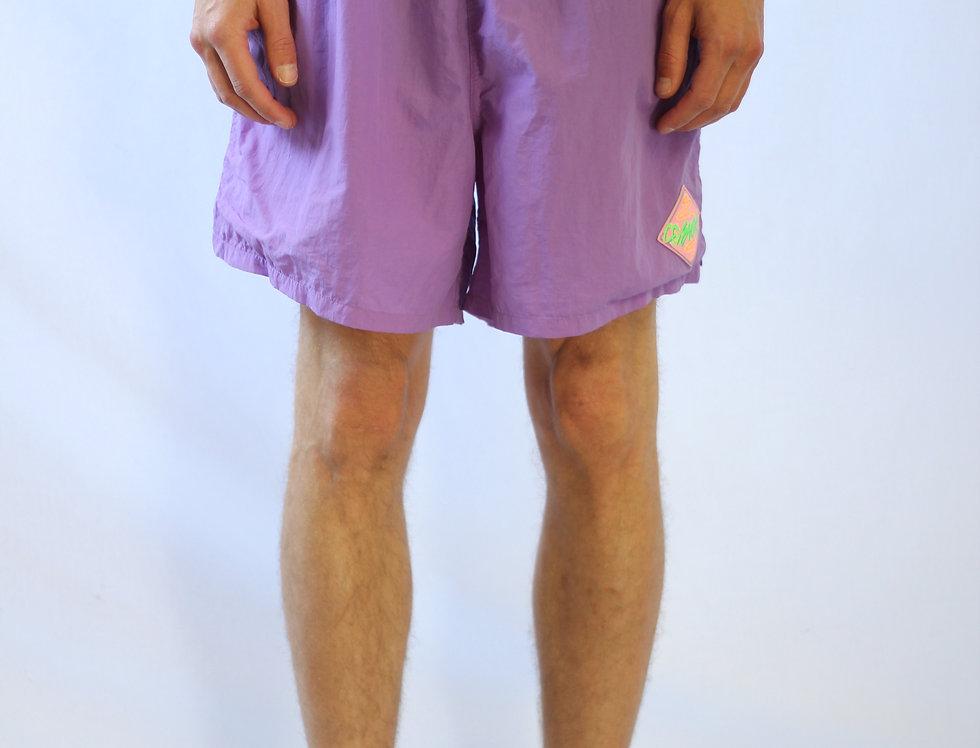 Fluro Purple Retro Swim Trunks