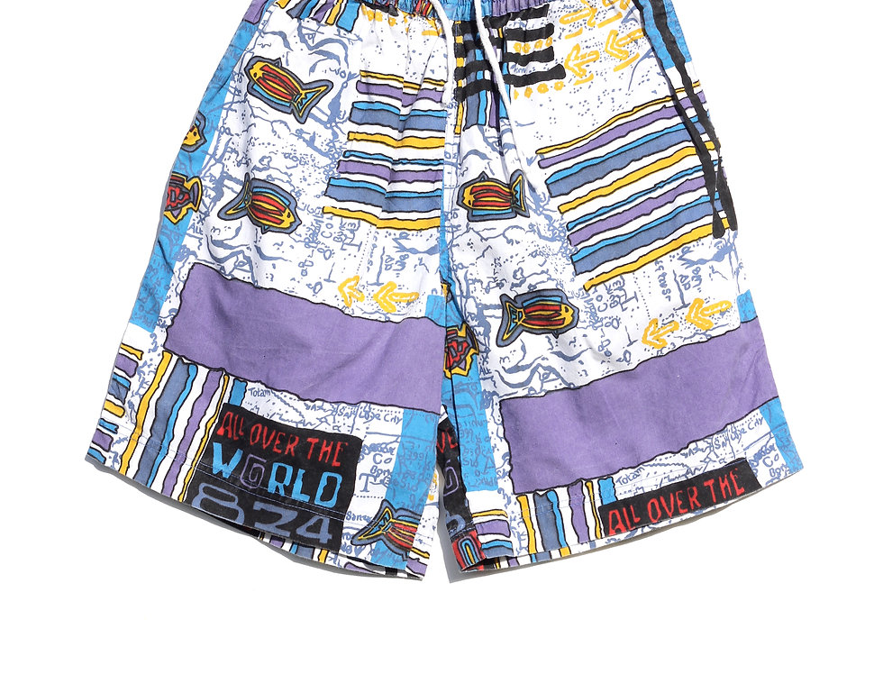 All Over the World 90's Shorts