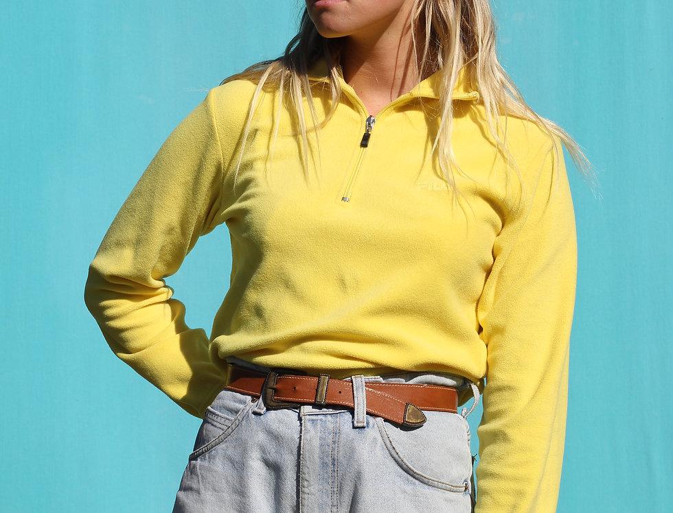 Yellow Fila Zip Up