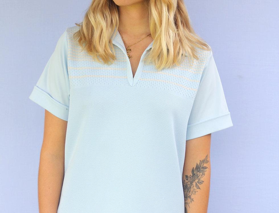 70's Blue Collar Top