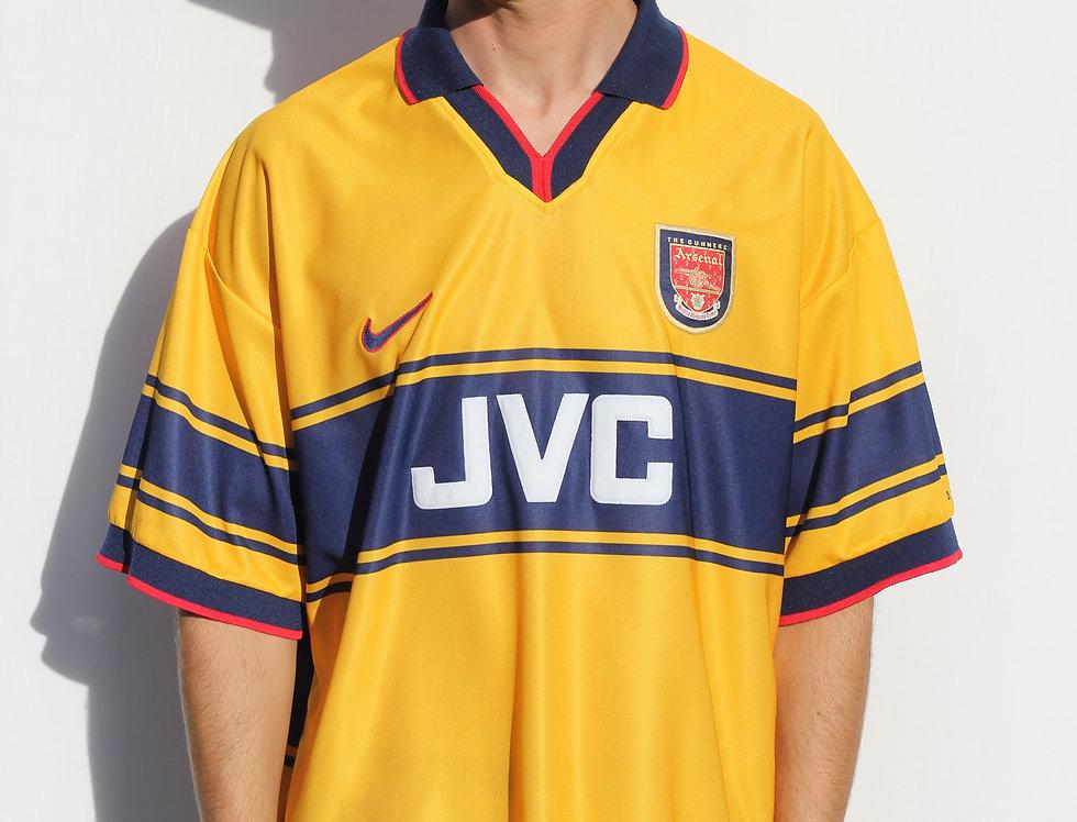 1997-1999 Arsenal JVC Nike Football Jersey