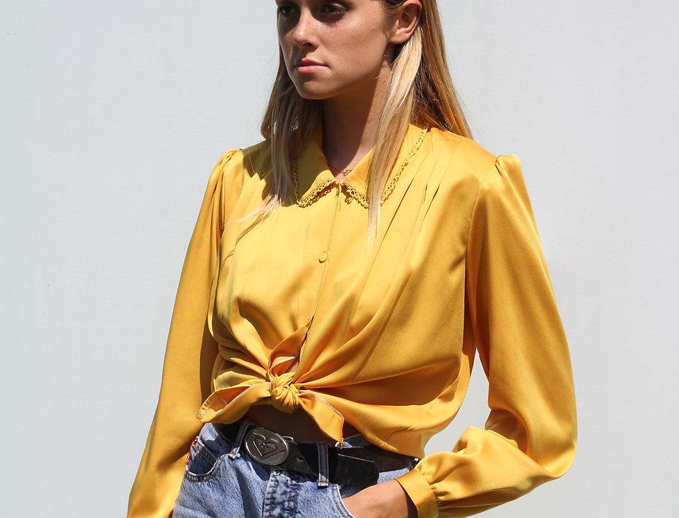 Golden Silk Vintage Blouse