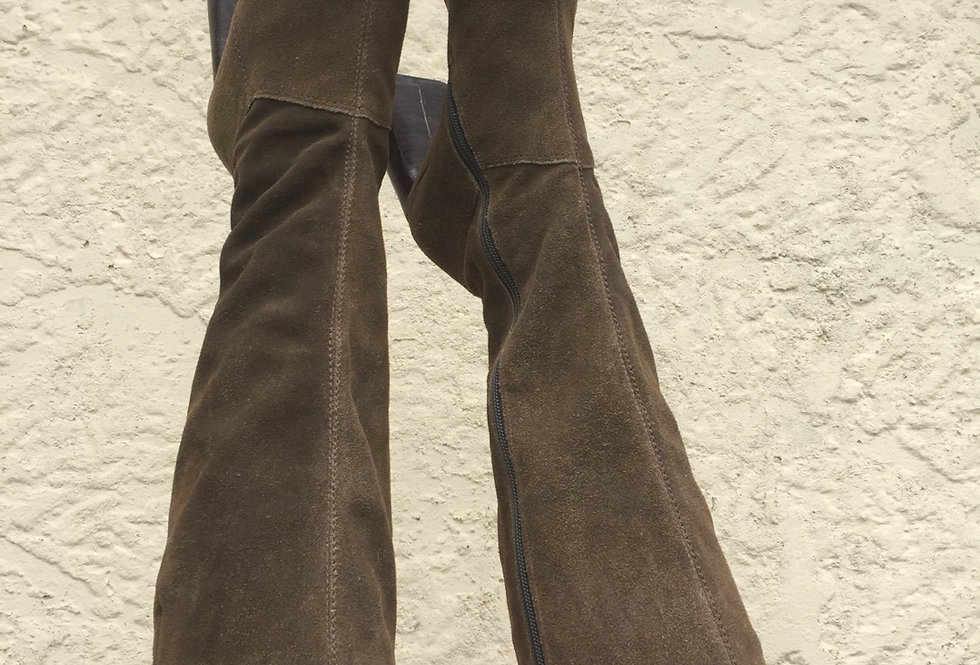 70's Style Suede Boots