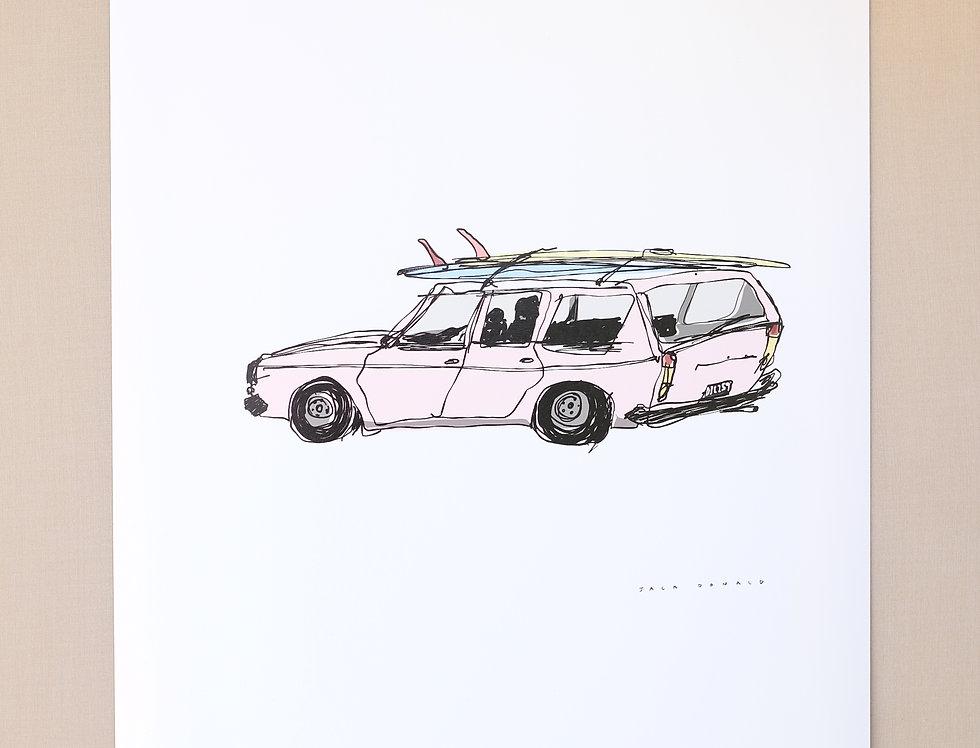 'Surf Wagon' Print