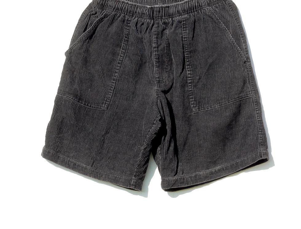 Black Corduroy Shorts