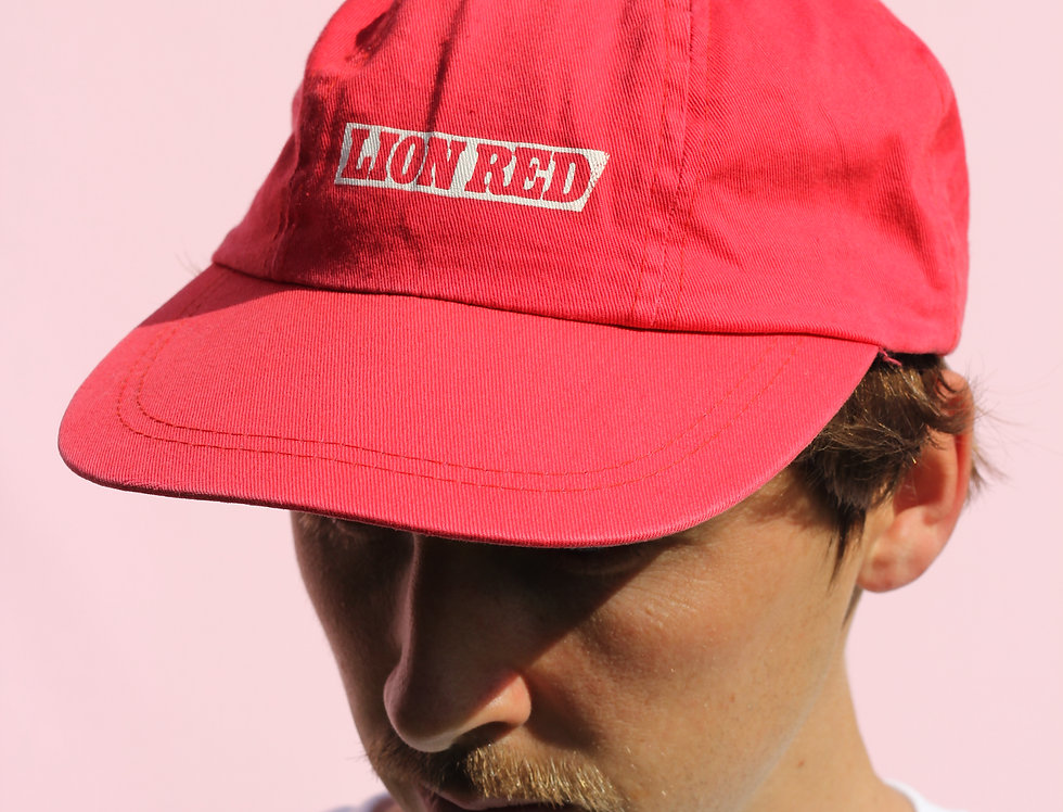 Vintage Lion Red Cap